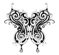 Tribal style butterfly tattoo Royalty Free Stock Photo