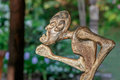 Tribal style wooden statuette Royalty Free Stock Photo
