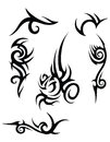 Tribal tattoo designs Royalty Free Stock Image