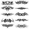 Tribal Tattoo Pack Vector Royalty Free Stock Photo