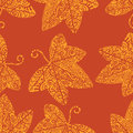 Tribal tattoo pattern. Ivy leaf Royalty Free Stock Photo