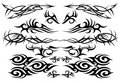 Tribal tattoo set one Stock Photos