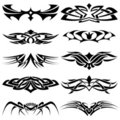 Tribal tattoo set part4 Royalty Free Stock Image