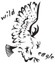 Tribal tattoo - Wild eagle Royalty Free Stock Photo
