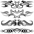 Tribal tattoos black illustrations vector Royalty Free Stock Images