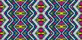 Tribal vector ornament. Seamless African pattern. Ethnic carpet with chevrons. Aztec style. Royalty Free Stock Photo