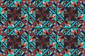 Tribal vector ornament. Seamless African pattern. Ethnic design on the carpet. Aztec style. Royalty Free Stock Photo