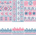 Tribal vintage ethnic banners pattern illustration for your business Royalty Free Stock Photo