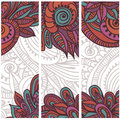 Tribal vintage ethnic banners Royalty Free Stock Photo