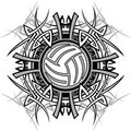 Tribal Volleyball Vector Logo Stock Photography
