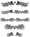 Tribal wolf designs tattoos flames Royalty Free Stock Photography