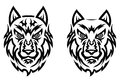 Tribal wolf tattoo Stock Photos
