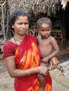 Tribal woman and her young child Stock Photo