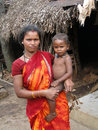 Tribal woman and her young child Stock Photos