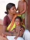 Indian women with children