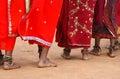 Tribal women dancing feet Royalty Free Stock Photo