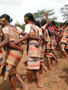 Tribal women link arms Stock Image