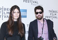 Tribeca film festival new york ny april adam goldberg and guest attend the mistaken for strangers premiere during the opening Stock Image