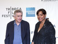 Tribeca film festival new york ny april robert de niro and grace hightower attend the mistaken for strangers premiere during the Stock Photography