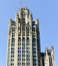 Tribune tower chicago famous building in downtown of illinois Royalty Free Stock Photography