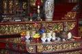 Tribute buddhism in mazu temple Stock Photo