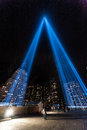 Tribute in light beams of light memorial nyc ny september the which has been carried out annualy since september and six months Royalty Free Stock Images