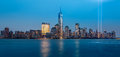 Tribute in light jersey city new jersey september memorial on september jersey city new jersey Stock Image