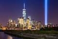 Tribute in Light over Lower Manhattan, New York City Royalty Free Stock Photo