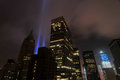 Tribute in Lights - World Trade Center Royalty Free Stock Photo