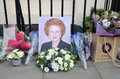 Tributes to ex british prime minster margret thatcher who died l london april for victoria in london april th in london england Stock Photo