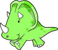 Triceratops Dinosaur Vector Illustration Stock Image