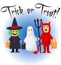 Trick or Treat! Royalty Free Stock Photo