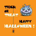 Trick or treat abstract colorful background with evil pumpkin and the text written with black and white letters halloween theme Stock Images