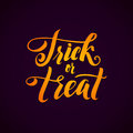 Trick or Treat. Halloween Party Vector Background with Hand Lettering.