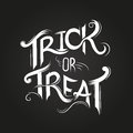 Trick or treat halloween poster design with hand drawn elements Stock Photos