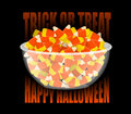 Trick or treat. Happy Halloween. bowl and candy corn. Sweets on Royalty Free Stock Photo