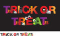 Trick or treat illustration different alphabet of halloween spelling ou the word Stock Photo