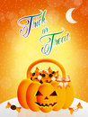 Trick or treat illustration of on halloween Stock Image