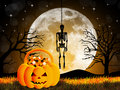 Trick or treat illustration of of halloween Stock Image