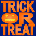 Trick or treat with jack o lantern Royalty Free Stock Images