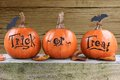 Trick or treat pumpkins Royalty Free Stock Photo