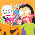 Trick or treat a vector illustration of see related image Stock Image