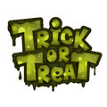 Trick or treat on white background helloween label Stock Photo