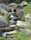 Trickerling waterfall small in the local park Royalty Free Stock Image