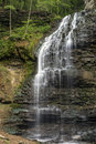 Trickling flow delicate of tiffany falls in ontario Royalty Free Stock Photography