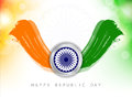 Tricolor background for indian republic day. Royalty Free Stock Image