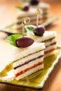 Tricolored sandwich stacks