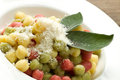 Tricolour gnocchi with sage Royalty Free Stock Photos