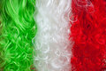 Tricolour wigs abstract background design Royalty Free Stock Images