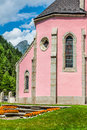 Trient church in switzerland france europe Royalty Free Stock Images